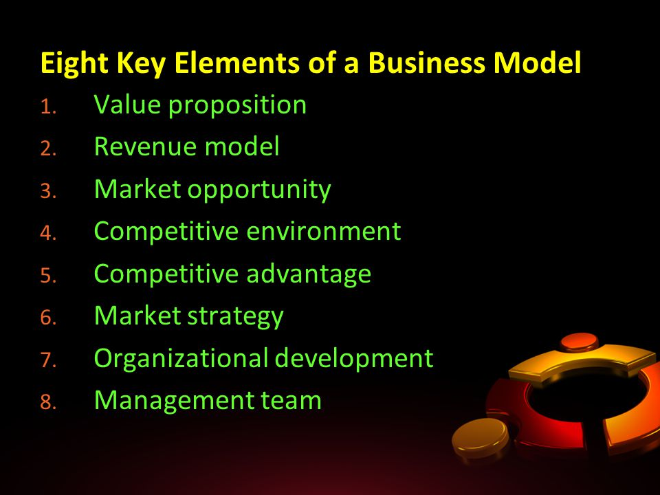 8 key element for a business This supportive deck is based from the jamso article blog 8 key elements of great key performance indicators use this 8 part check list as an audit start point for your business metrics and kpi's.
