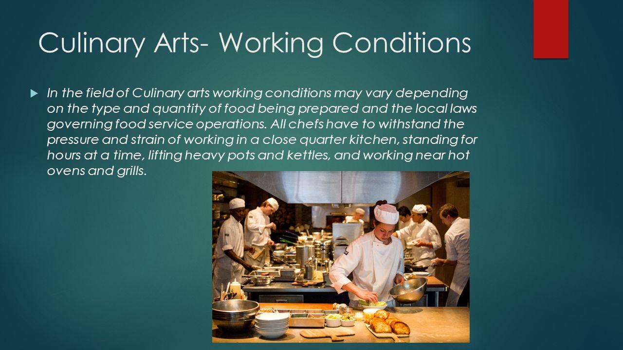 Culinary Arts Job Duties — Vila \