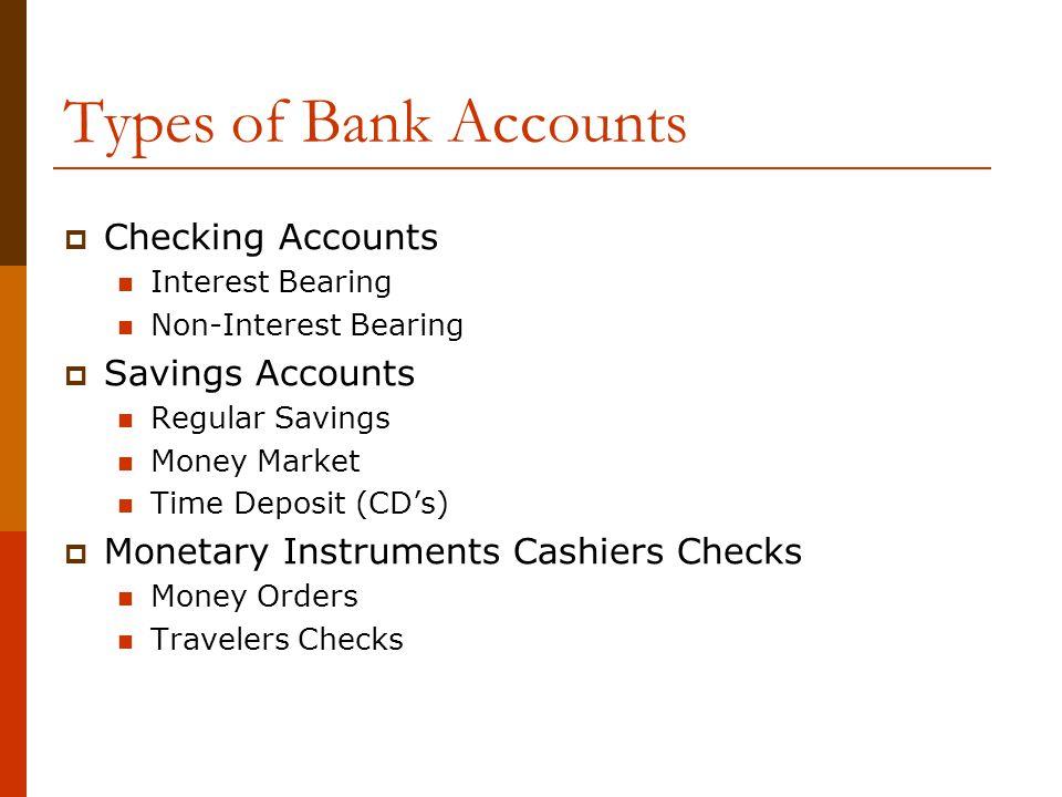 type of bank account