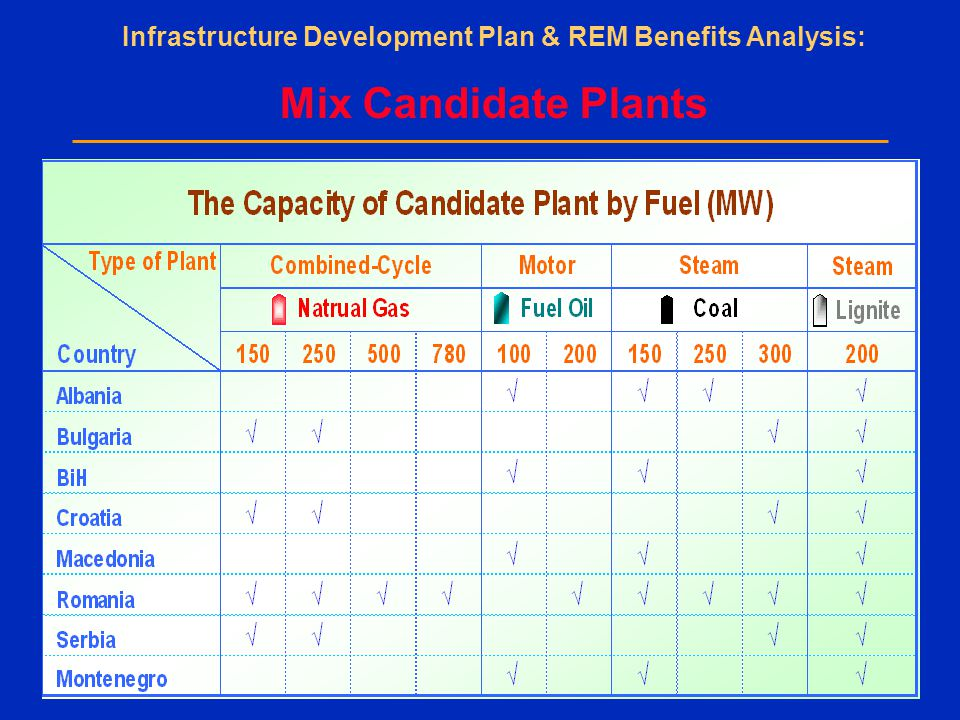 Infrastructure Development Plan & REM Benefits Analysis: Mix Candidate Plants