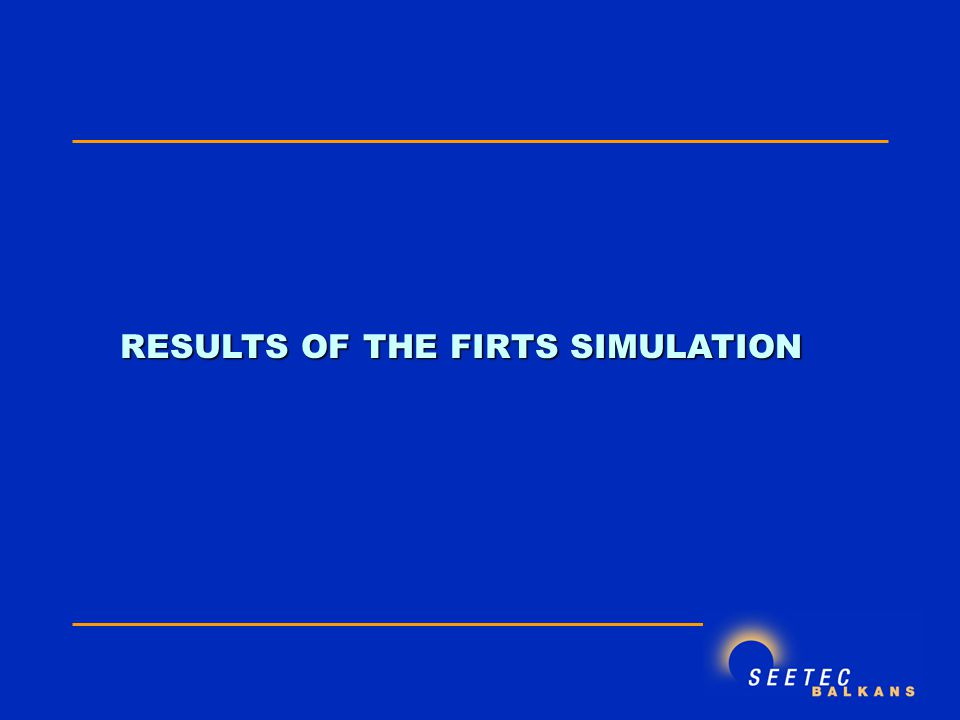 RESULTS OF THE FIRTS SIMULATION