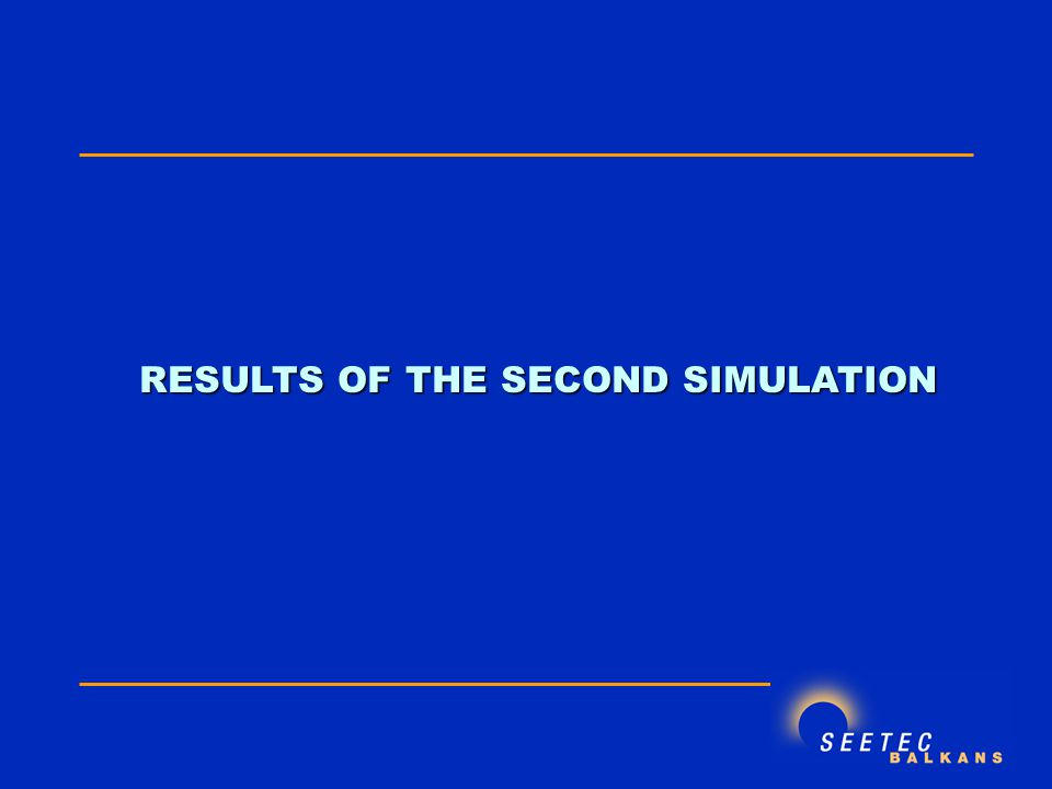 RESULTS OF THE SECOND SIMULATION