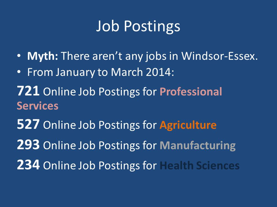 Job Postings Myth: There aren't any jobs in Windsor-Essex.