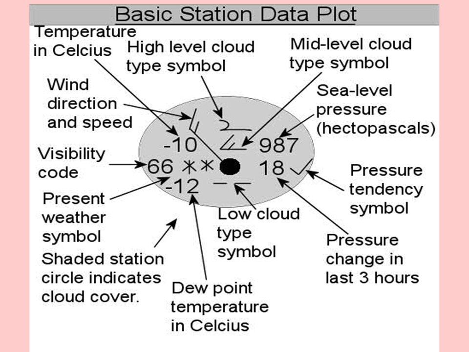 Weather Stations Weather Map Symbols Weather Station Models Label