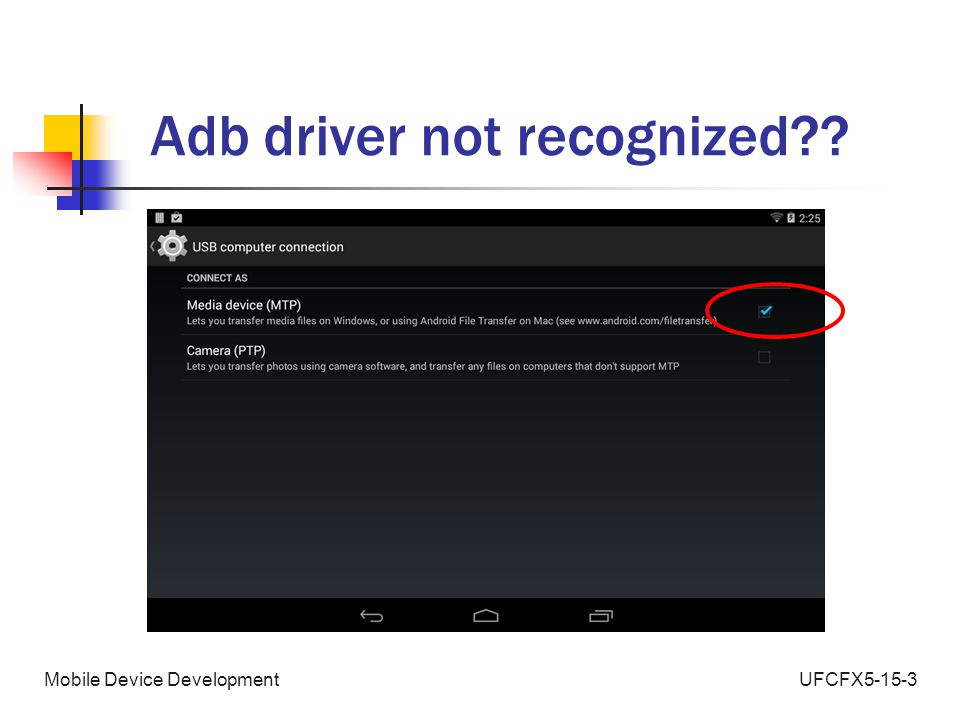 UFCFX5-15-3Mobile Device Development Adb driver not recognized