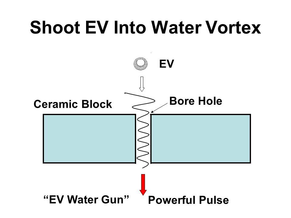 Shoot EV Into Water Vortex EV Powerful Pulse Ceramic Block Bore Hole EV Water Gun