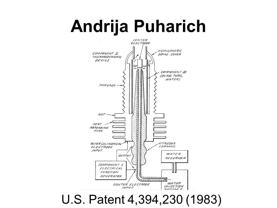Andrija Puharich U.S. Patent 4,394,230 (1983)