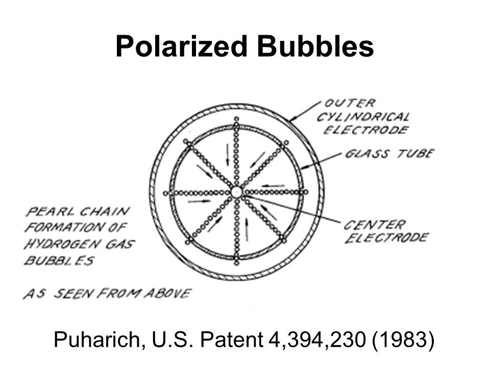 Polarized Bubbles Puharich, U.S. Patent 4,394,230 (1983)