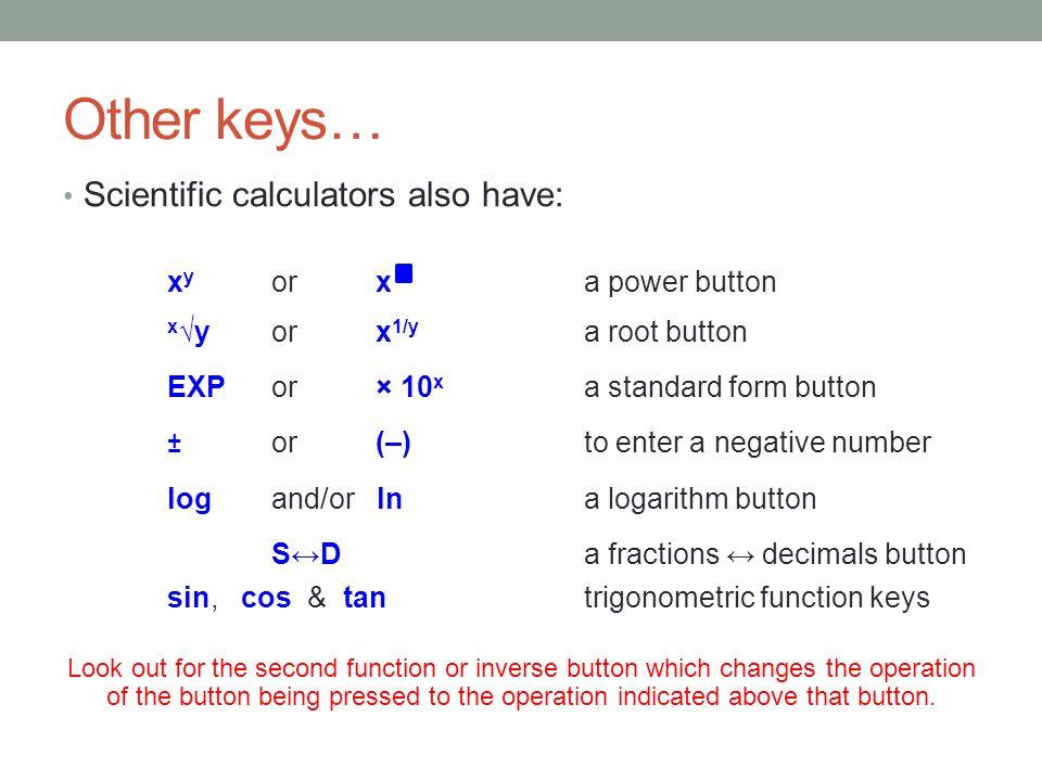 Mathematics Using A Calculator The Basics The Aim Of This