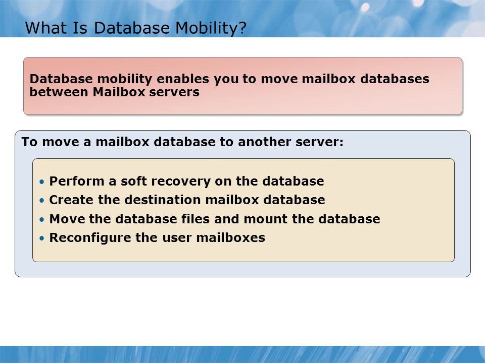 What Is Database Mobility.