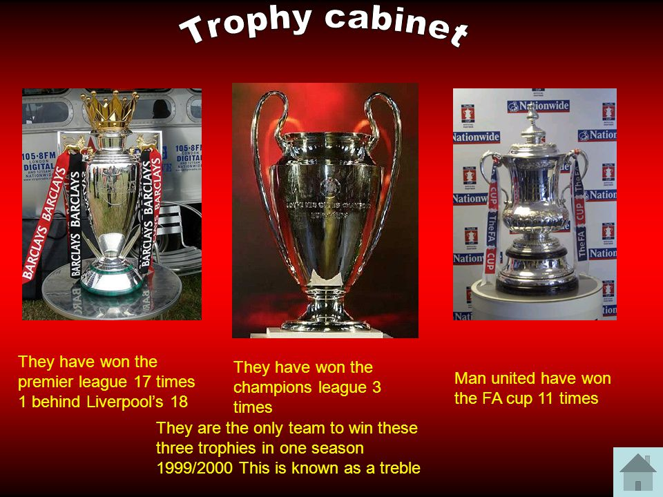 12 Trophy Cabinet They Have Won The Premier League 17 Times 1 Behind Liverpools 18 Champions 3 Man United FA