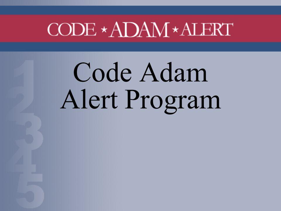 Code Adam Alert Program