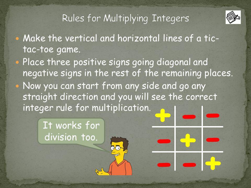 Tic-Tac-Toe Multiplying Integers by Maestra Carlota | TpT