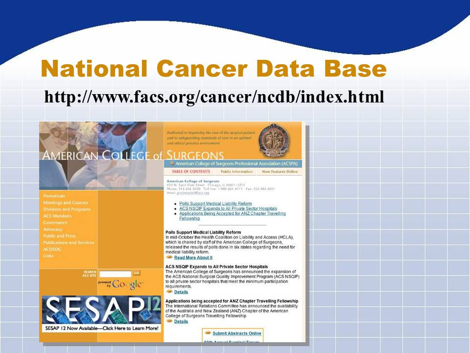 National Cancer Data Base