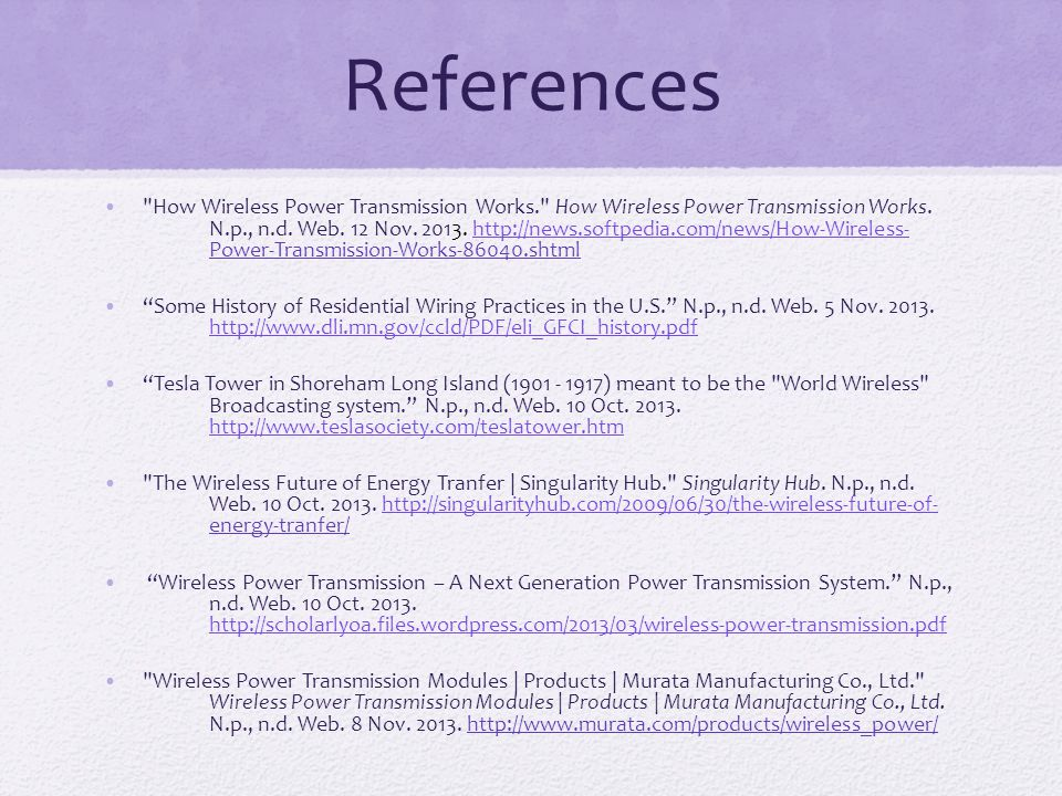 wireless power transmission olivia wunsch section ppt download Residential Wiring History Residential Wiring History #66 history of residential wiring