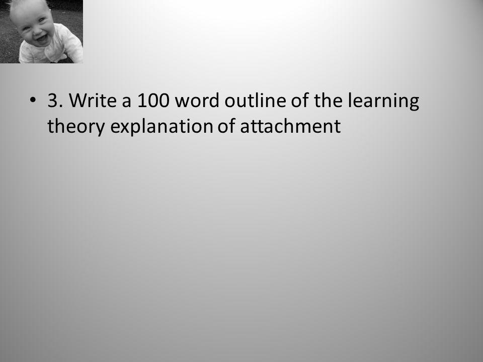 How do you write a 100 word outline?