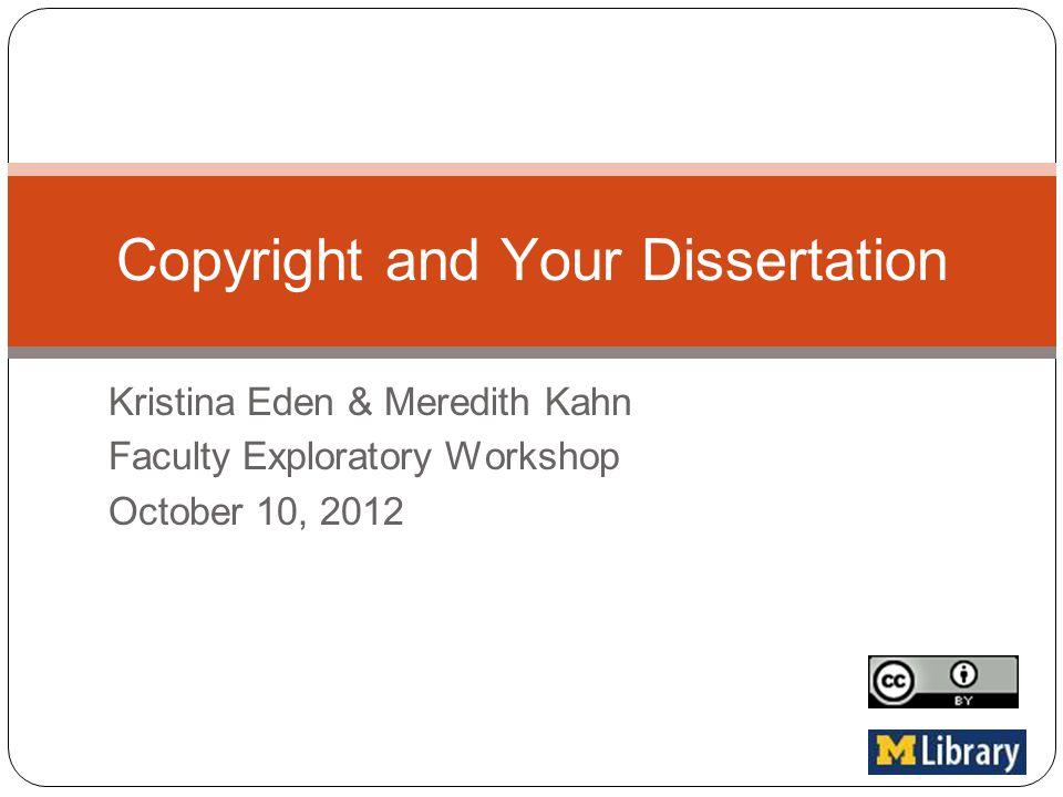 Dissertation copyright images