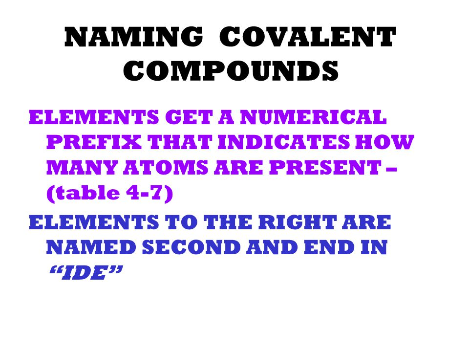 NAMING IONIC COMPOUNDS (Na+) NaCl (Cl-) Sodium Chloride (Mg 2 +) Mg + F (F-) MgF 2 Magnesium Flouride
