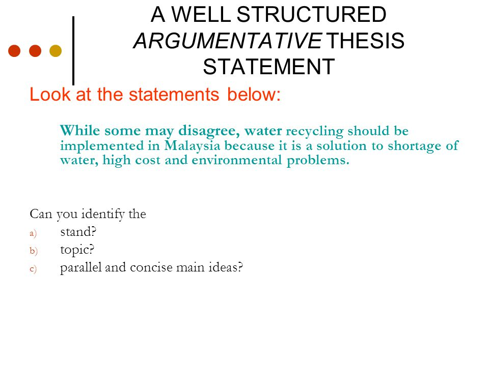 Thesis Statement On Recycling