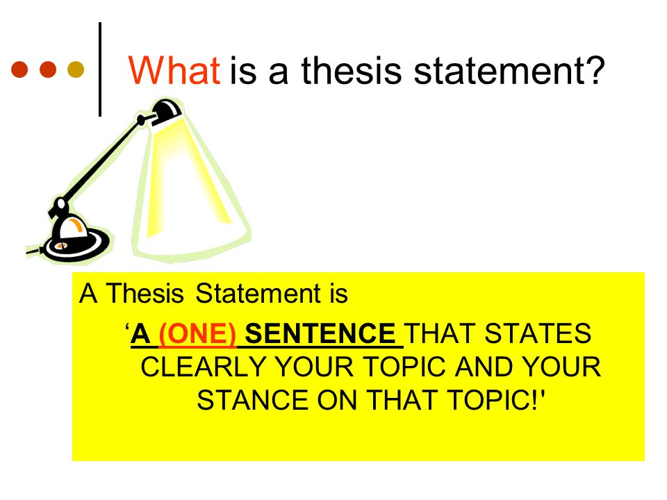 Is A Thesis Statement One Sentence