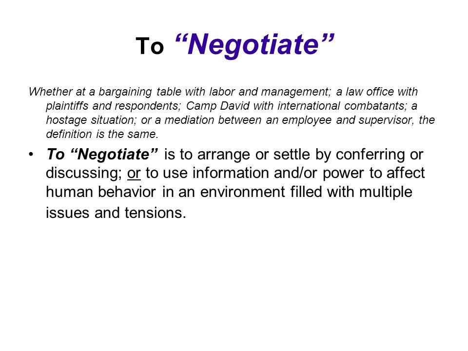 """Presentation """"The Negotiations Process True or False Questions: 1 ..."""
