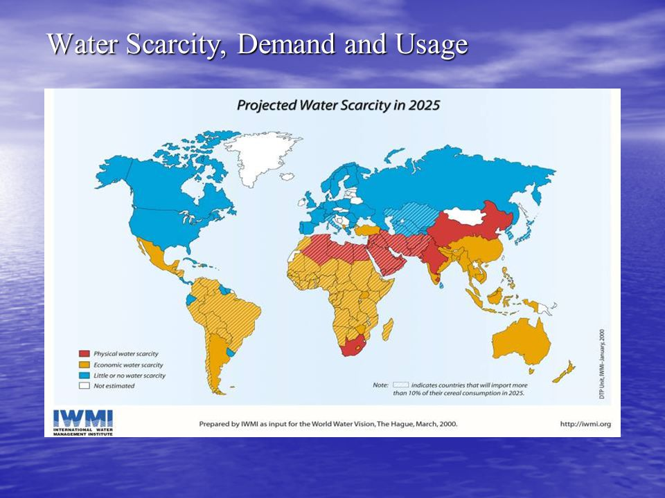Water Scarcity, Demand and Usage