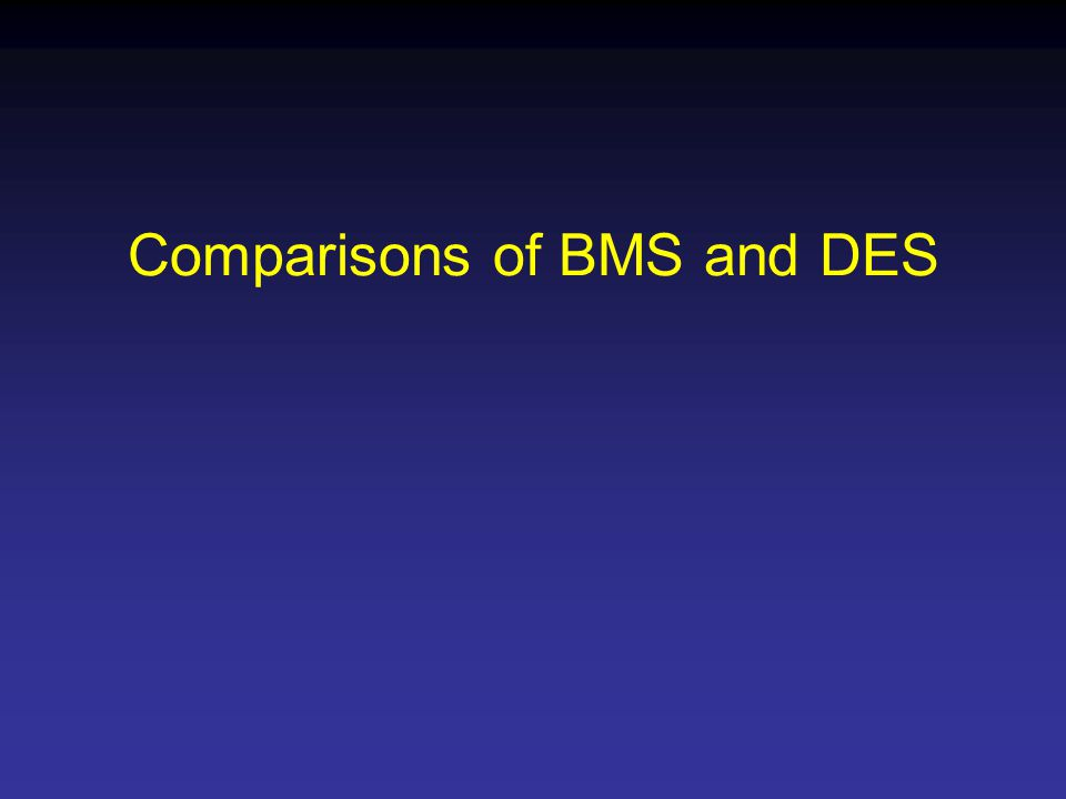 Comparisons of BMS and DES