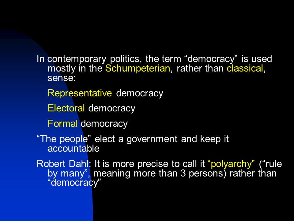 term democracy