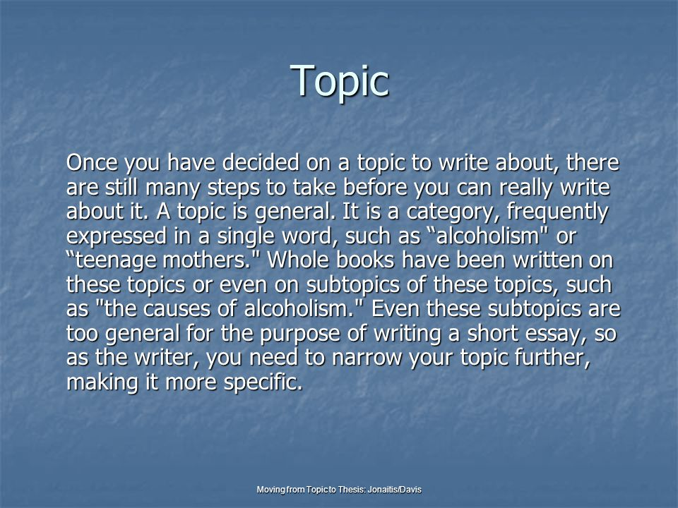Don't know what topic i should do dissertation on?