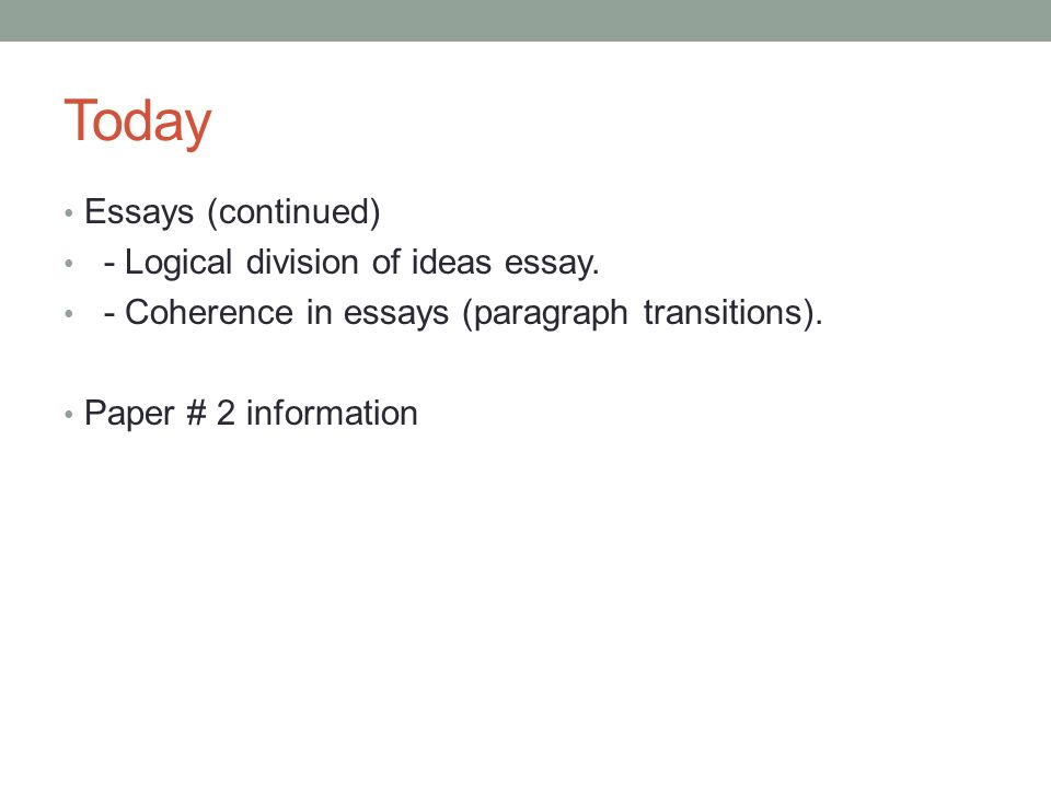 ideas for essays