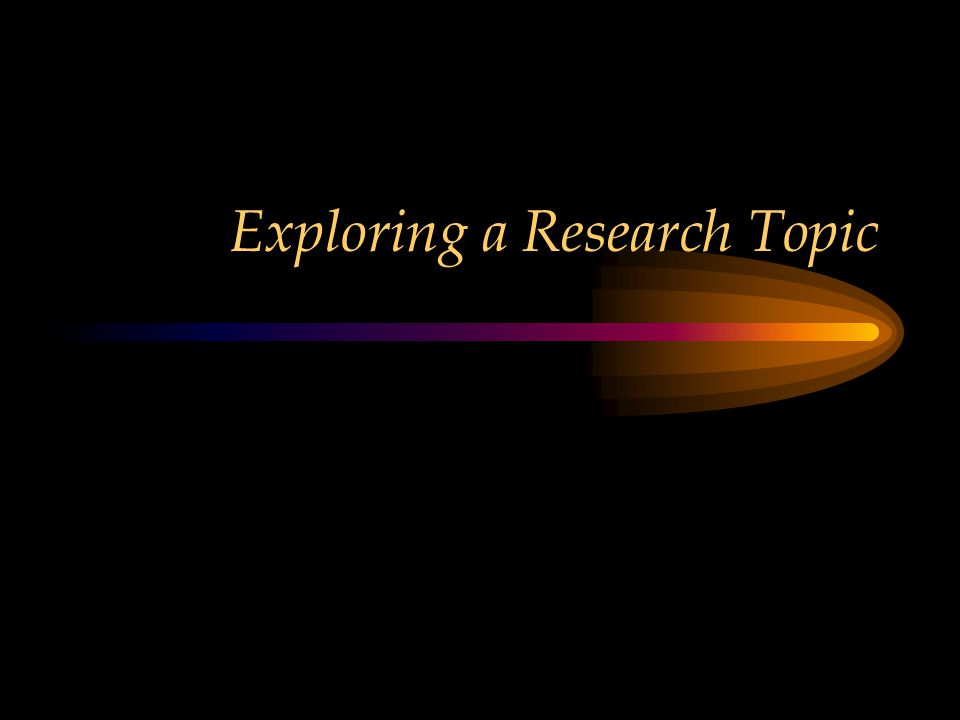 Exploring a Research Topic