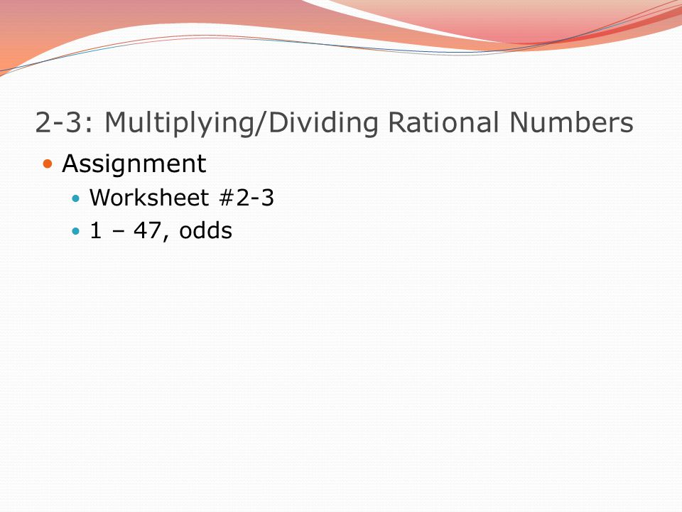 Essential Question What are the rules for multiplying and – Multiplying Rational Numbers Worksheet