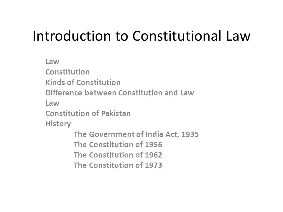 introduction to constitutional law Get information, facts, and pictures about constitutional law at encyclopediacom make research projects and school reports about constitutional law easy with credible articles from our free, online encyclopedia and dictionary.