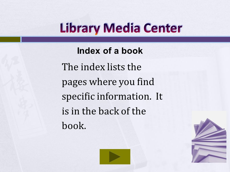The index lists the pages where you find specific information.
