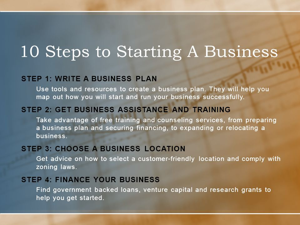 How do you start a business plan