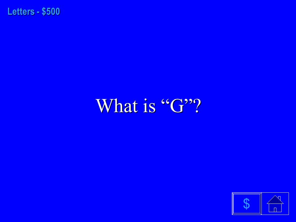Letters - $400 What is a lowercase letter $