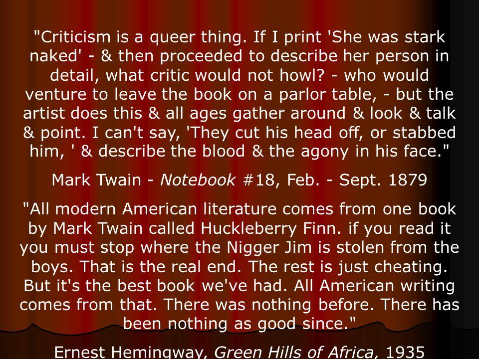 The Occasion of Mark Twain s Speech On Foreign Critics   Springer Essay on Mark Twain