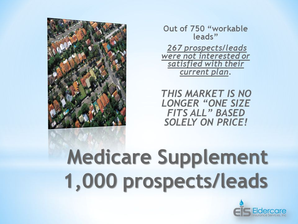 Out of 750 workable leads 267 prospects/leads were not interested or satisfied with their current plan.