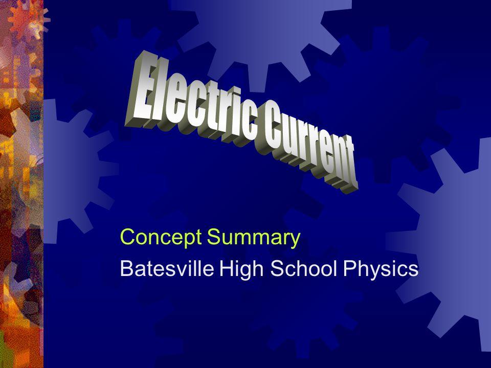Concept Summary Batesville High School Physics