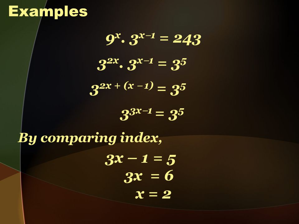 SOLVING LOGARITHMIC AND INDICES PROBLEM. Solving equation in the ...