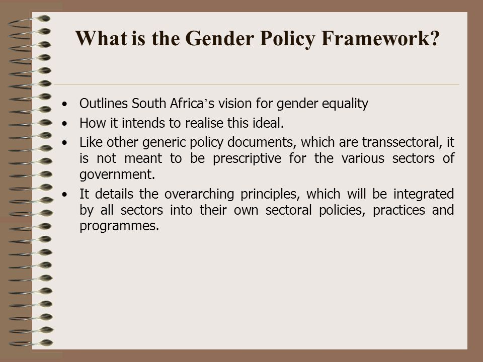 What is the Gender Policy Framework.