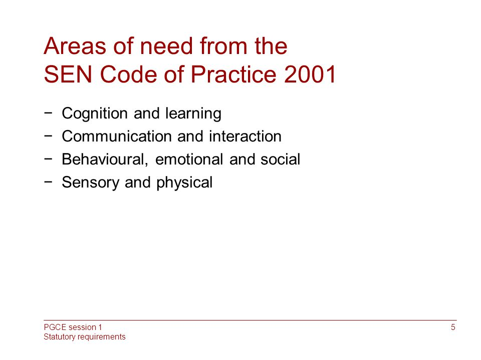 send code of practice 0 to 25 years