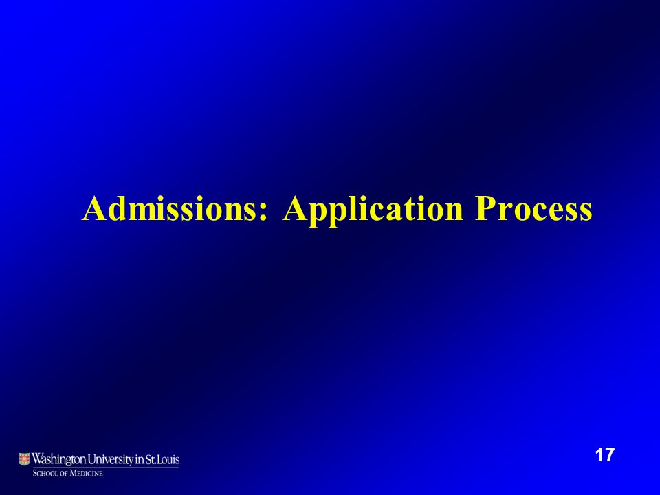 Admissions: Application Process 17