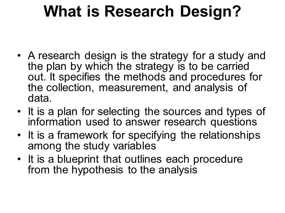 Research study plan