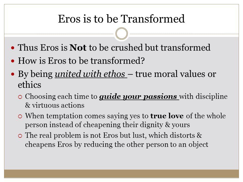 Eros is to be Transformed Thus Eros Greek God Symbol