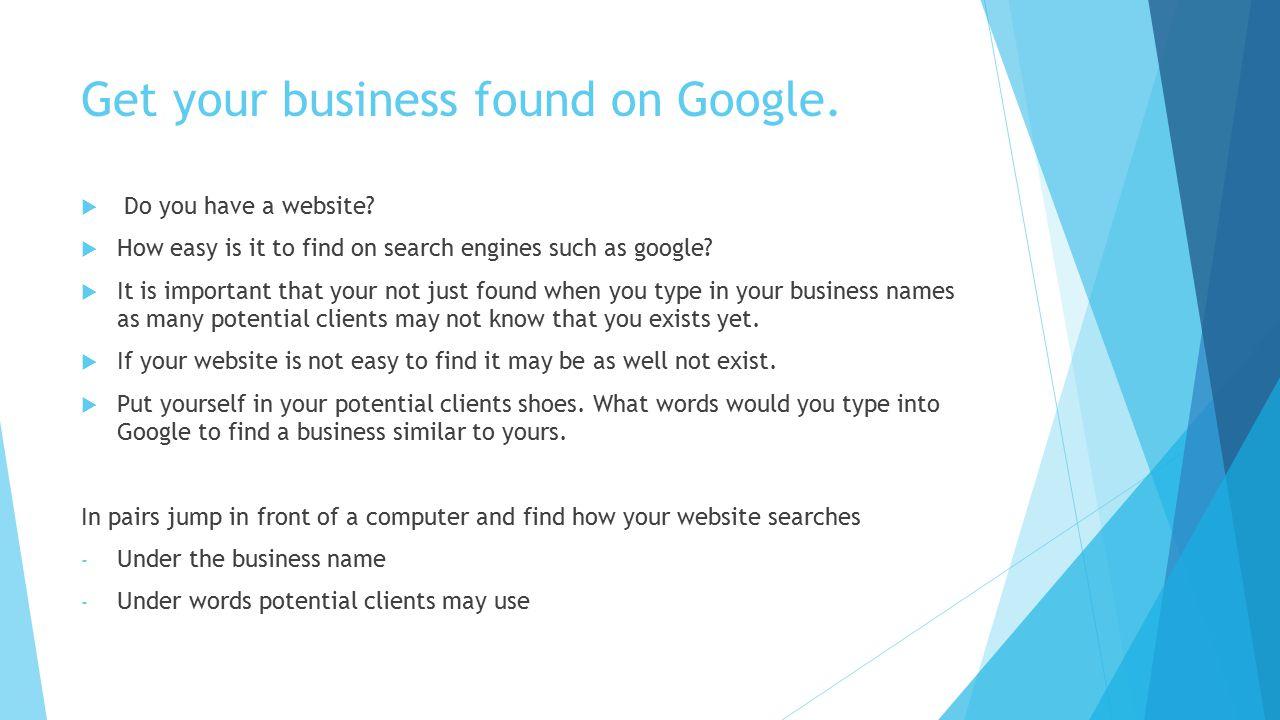 Get Your Business Noticed Online Online Marketing Workshop. - ppt ...