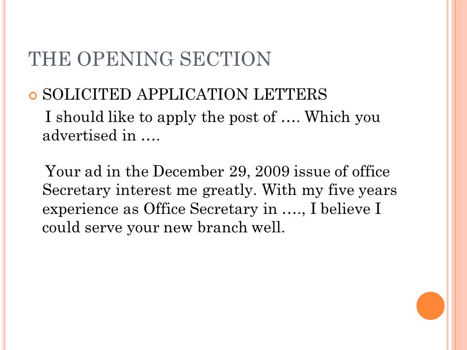 opening sections essay
