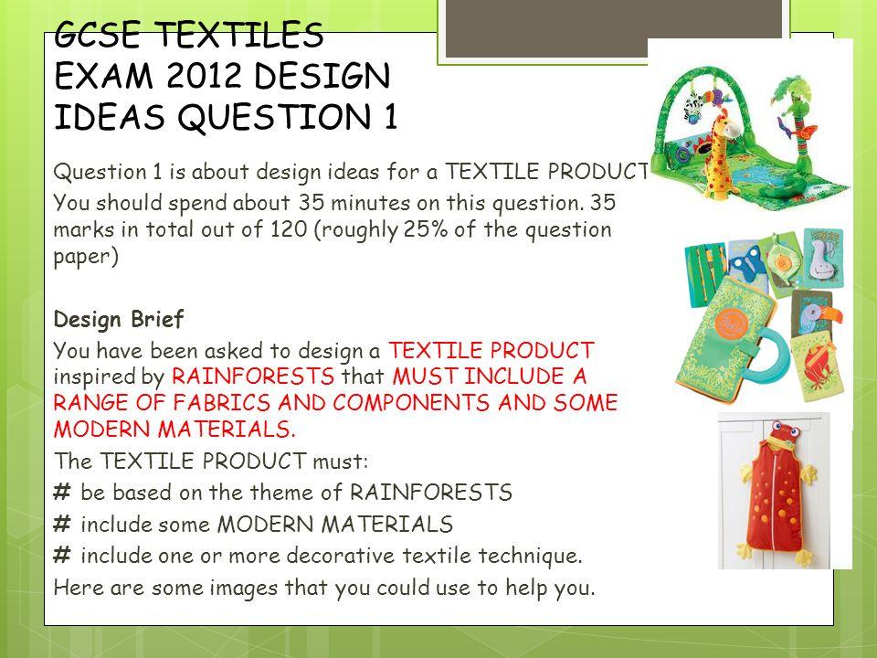 Help with Textiles GCSE exam?
