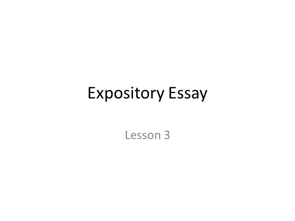 Whats an expository essay