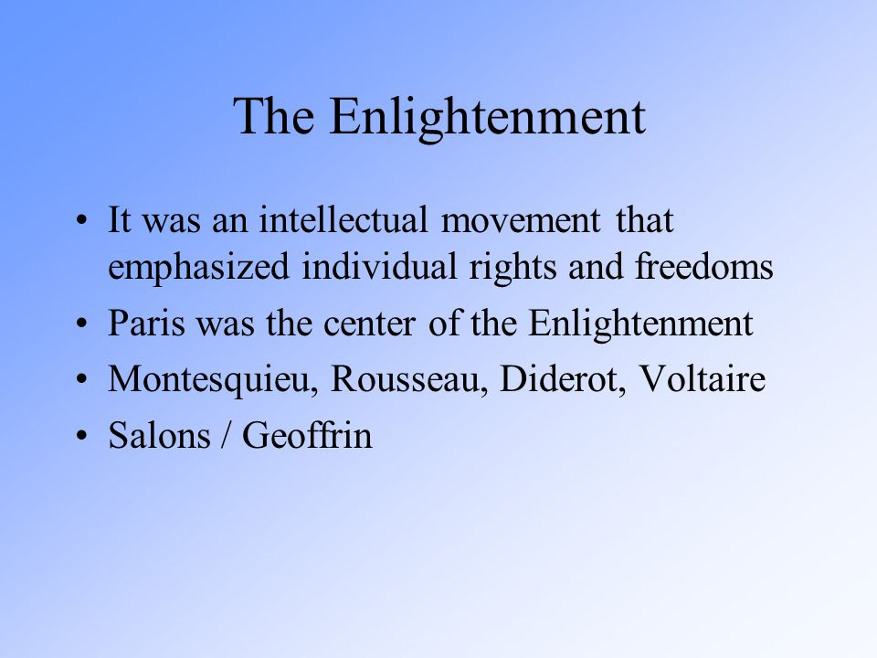 the predominant intellectual movement of the enlightenment The american enlightenment was a gradual but powerful awakening that established the ideals of democracy, liberty, and religious tolerance in the people of america if there were just one development that directly caused the american revolution and uplifted the intellectual culture of the continent.